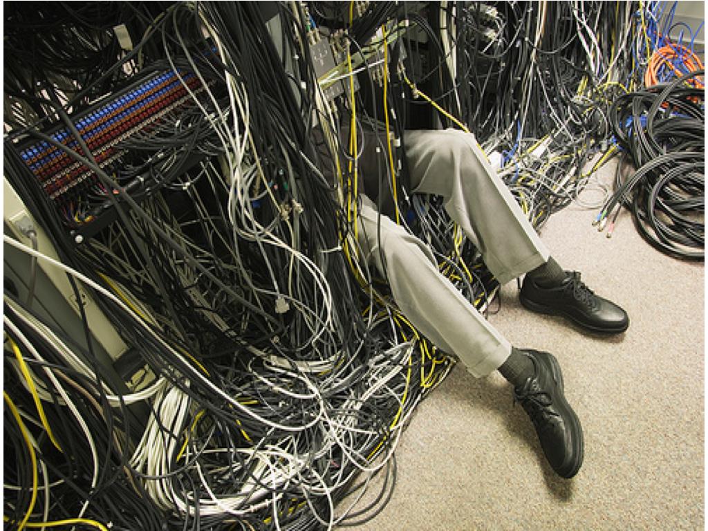 data center mess