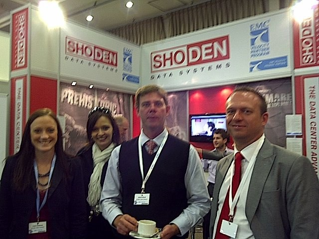 The Shoden Data Systems team poses for the camera at the EMC Forum